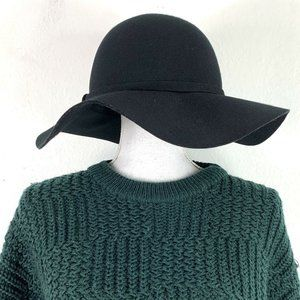 Phase 3 Wool Floppy Hat Black One Size Outer Band